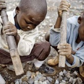 Half of the workforce of the artisanal mining sector is comprised of children. Without viable economic alternatives, most children must join their parents in rudimentary mining pits. Children as young as two years transport, wash, and crush minerals to earn half a dollar a day.